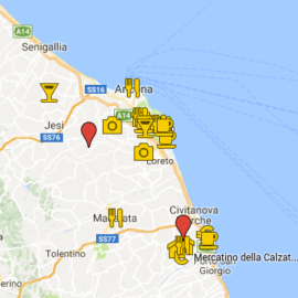 Google Maps der Marken (Italien)
